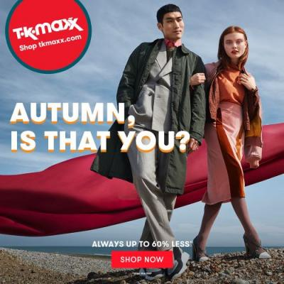 UK Daily Deals: Get Designer Clothes and Accessories for up to 60% Less at TK Maxx