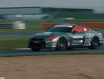 R/C Kaiju! Radio-Controlled Full-Size Nissan GT-R Laps Silverstone!