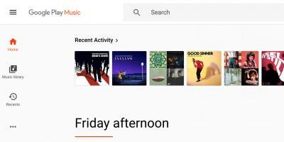 Google Play Music on the web gains a persistent side navigation rail