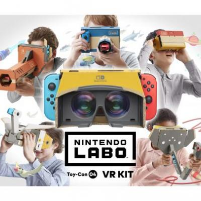 PR - New Nintendo Labo Kit Introduces Shareable, Simple VR Gaming Experiences