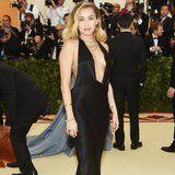 Um, Miley Cyrus's Met Gala Dress Dips So Far in the Front AND Back, We Don't Know Where to Look