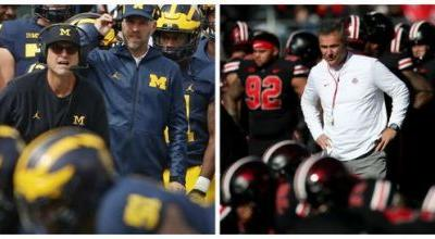 Jim Harbaugh, like Urban Meyer and other Big Ten coaches, saved his school: Doug Lesmerises