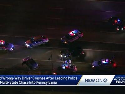 Naked driver arrested in Pa. after police chase through 2 states