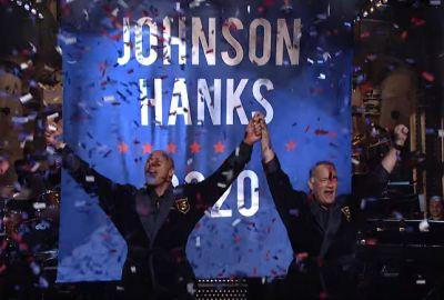 On SNL, The Rock and Tom Hanks joked about a 2020 White House bid. Some want to believe