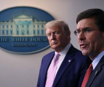 Defense Secretary Esper breaks with Trump, opposes using military for protests