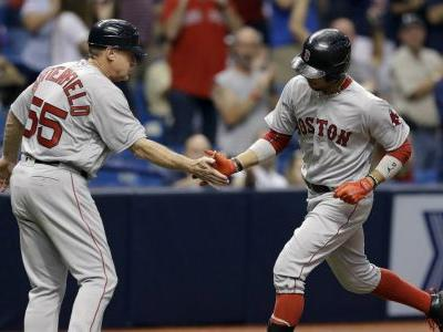 Porcello sharp, Betts homers to lift Red Sox over Rays