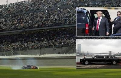 Revved up: Donald Trump could take lap in armored presidential limo at NASCAR Daytona 500