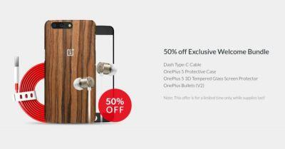 OnePlus 5's 'Early Drop' Promo Includes Accessory Discounts