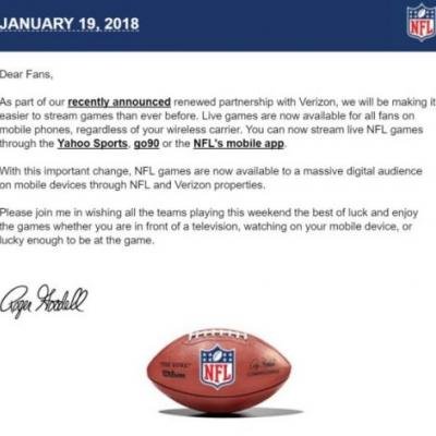 PSA: Live NFL Games Are Now Available To All Mobile Users