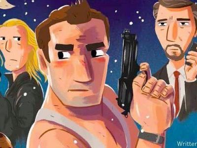 Die Hard is Becoming an Illustrated Christmas Storybook