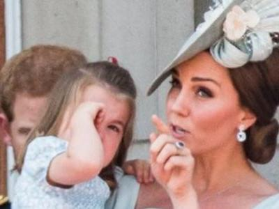 Princess Charlotte had a great fall but Kate Middleton saved the day. Watch video