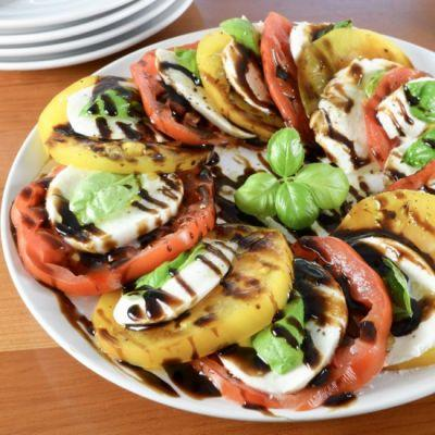 Heirloom Caprese Salad with Balsamic