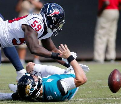 Texans take advantage of Bortles' miscues, beat Jaguars 20-7