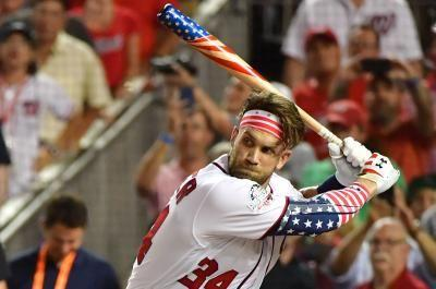 Watch: Nats' Bryce Harper hacks 9 bombs in 47 seconds to win Home Run Derby