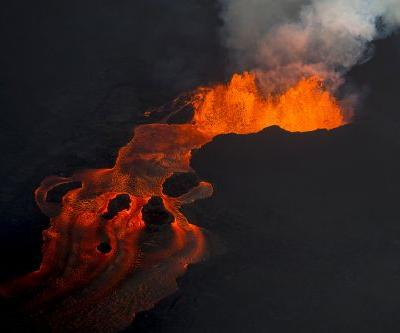 Lava bomb from Hawaii volcano flies through boat roof, injures 13