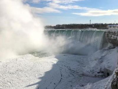 Niagara Falls in winter's grip
