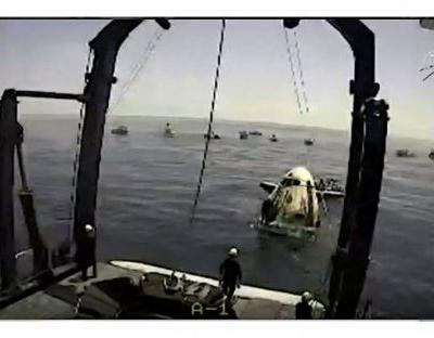NASA astronauts on SpaceX Crew Dragon land safely back on Earth