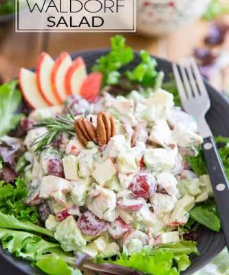 Creamy Chicken Avocado and Goat Cheese Salad