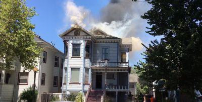 3-story Victorian home catches fire, 5 cats rescued