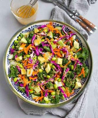 Superfood Salad with Miso Dressing