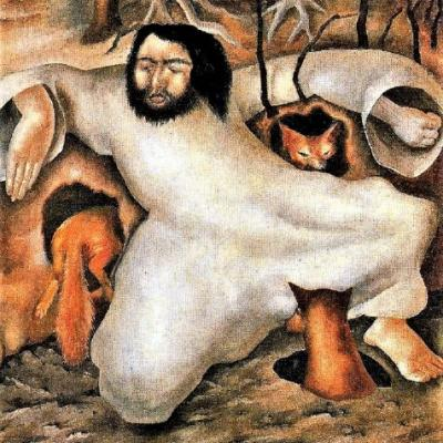 Lent - Stanley Spencer (1891-1959) Christ in the Wilderness The Foxes Have Holes