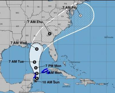 Tropical depression churning in Caribbean could become a hurricane this week