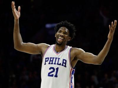 Injured 76ers centre Embiid not cleared for 5-on-5 drills