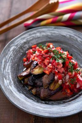 Eggplant with Red Pepper Relish is the New Summer Favorite!