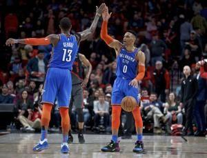 Westbrook, Thunder top Lillard, Trail Blazers in OT