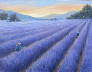 'Lavender Dreams' An Original Oil Painting by Claire Beadon Carnell