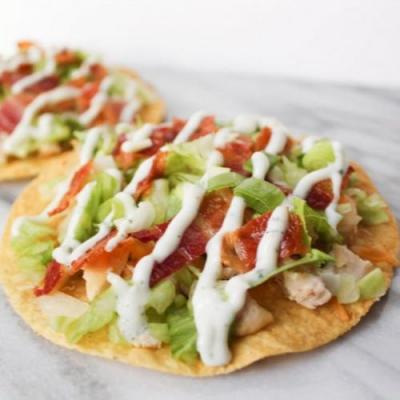 Chicken Bacon Ranch Tostada