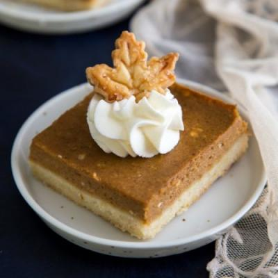 Pumpkin Pie Shortbread Bar