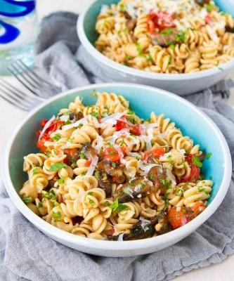 Roasted Tomato & Mushroom Pasta Recipe