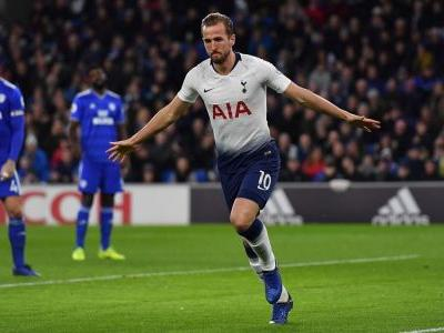 Kane equals scoring record in Spurs' win in Cardiff