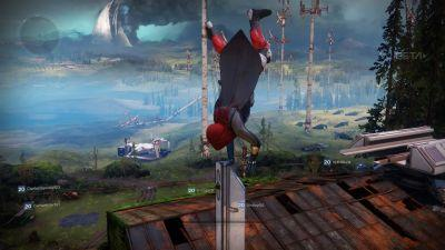 Handstanding on everything in The Farm in Destiny 2