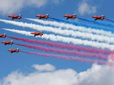 One of the Royal Air Force's Red Arrows has crashed