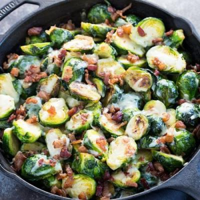 Baked Cheesy Brussels Sprouts