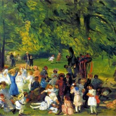 1905 SPRING Central Park William Glackens