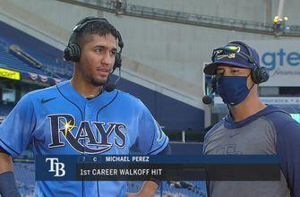 Rays catcher Michael Perez on his game-winning hit against Yankees