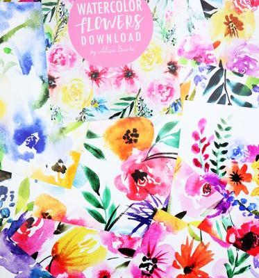 Watercolor flowers download for you!