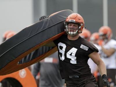 Grandma frowns on Browns DE's potty month at training camp