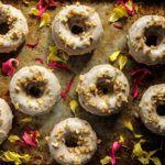 Banana Walnut Donuts with Maple Glaze