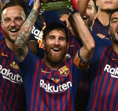 Thirty three and counting - Messi sets new Barcelona trophy record with Supercopa win