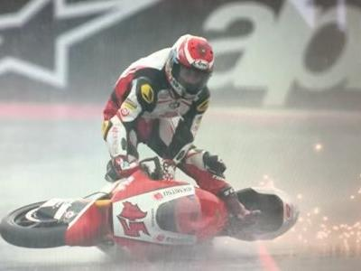 Watch A MotoGP Rider 'Surf' His Bike In Slow Motion