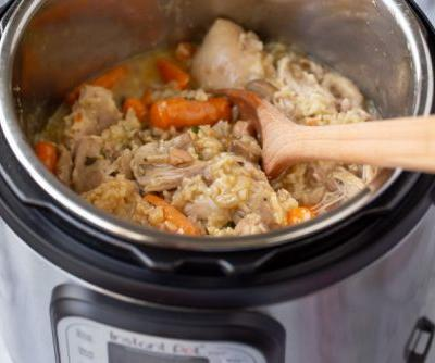 All-in-One Instant Pot Chicken and Brown Rice