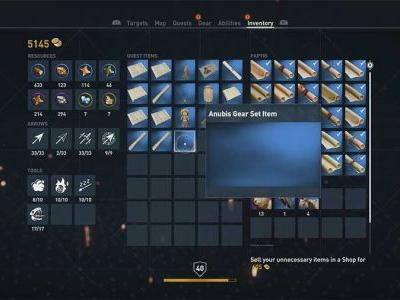 What To Do With Anubis Gear Set Item In Assassins Creed Origins
