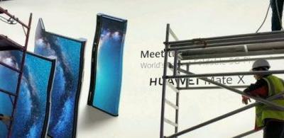 First Glimpse of Huawei Mate X: A Foldable 5G Phone