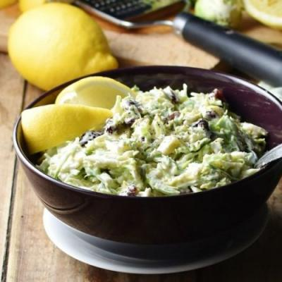 Creamy Brussel Sprout Slaw