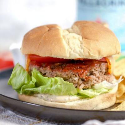 Grilled Meatloaf Burger