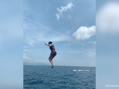 Taking the Plunge! Kylie Jenner and Travis Scott Jump Off Their Yacht While Vacationing in Italy